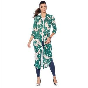G by Giuliana Tropical Duster Cardigan